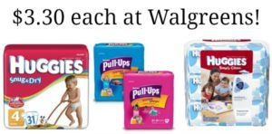 Walgreens: Huggies Diapers, Pull-Ups and Wipes Only $3.30!