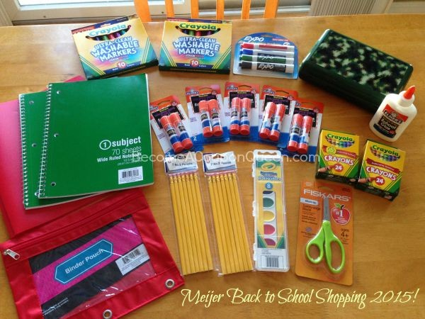 My Meijer Back to School Shopping Trip!