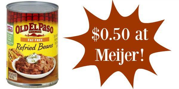 old el paso refried beans meijer