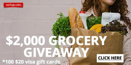 savings dot com grocery giveaway