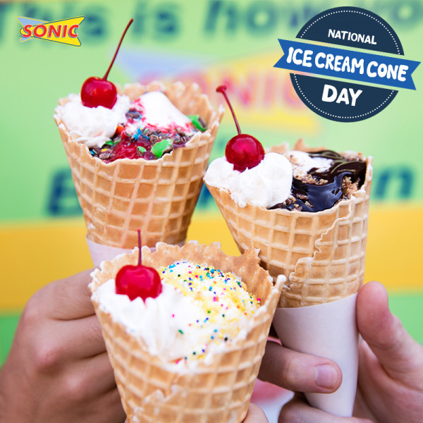 sonic ice cream cones