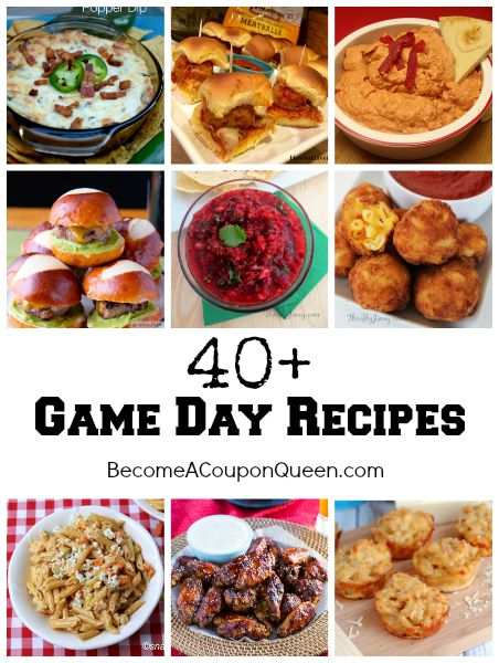 40+ game day recipes