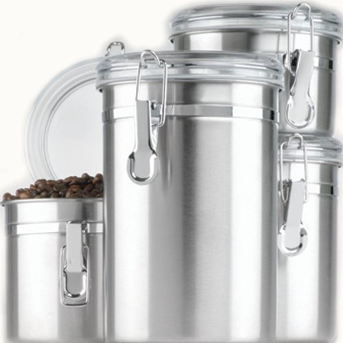 Anchor Hocking 4-Piece Stainless Steel Canister Set