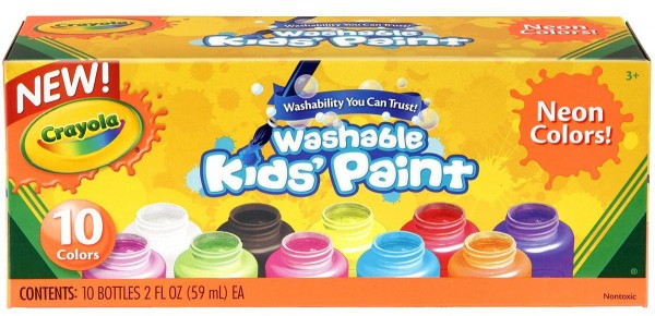Crayola Washable Kid's Neon Paint Set