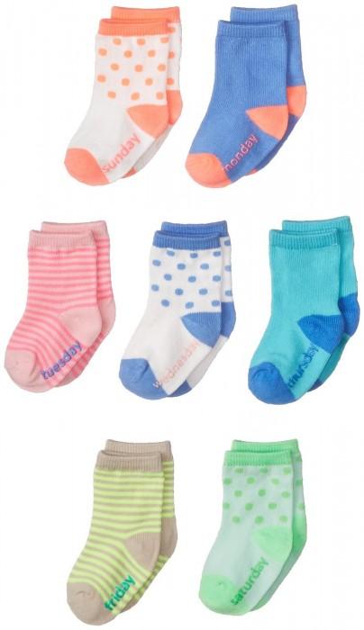OshKosh B'Gosh Newborn Days of The Week Socks