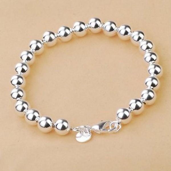 Sterling Silver Beads Chain Bracelet