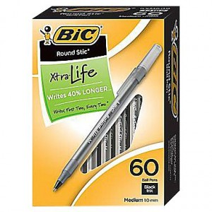 Bic Ballpoint Pens 60-Count Boxes Only $3!