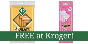 FREE Bic Razors at Kroger!
