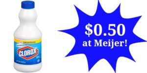 Meijer: Clorox Liquid Bleach Only $0.50!