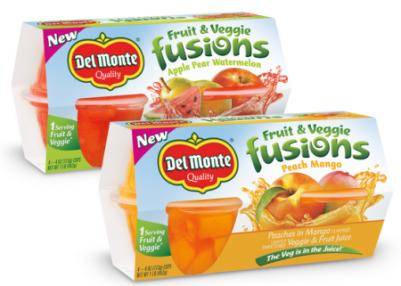 del monte fruit and veggie fusions