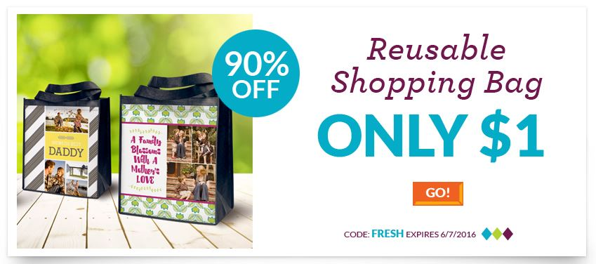 personalized reusable shopping bags only 1 become a coupon queen. Black Bedroom Furniture Sets. Home Design Ideas