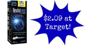 Target: Revitalens Multipurpose Contact Solution Only $2.09!