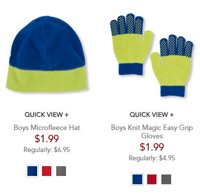 the children's place hat and gloves boy
