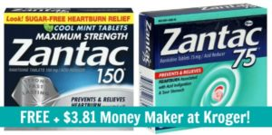 FREE Zantac Acid Reducer + $3.81 Money Maker at Kroger!