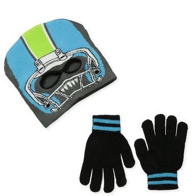 Boys' Football Helmet Facemask and Glove Set