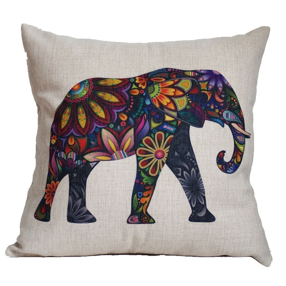 Cute Names For Elephant Pillow Pets : Colorful Elephant Pillow Case Cover Only USD3.55 + FREE Shipping! - Become a Coupon Queen