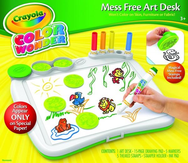Crayola Color Wonder Art Desk with Stamper