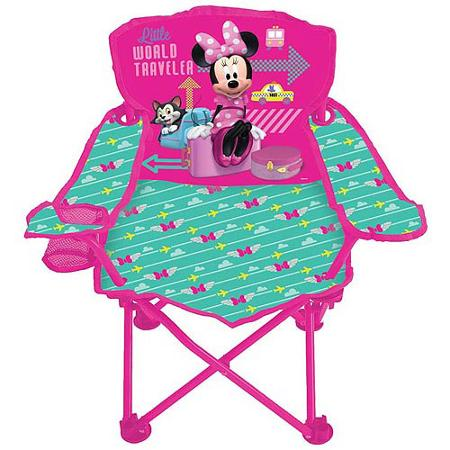 Disney Minnie Mouse Jet Set Fold N Go Chair Only 9 98