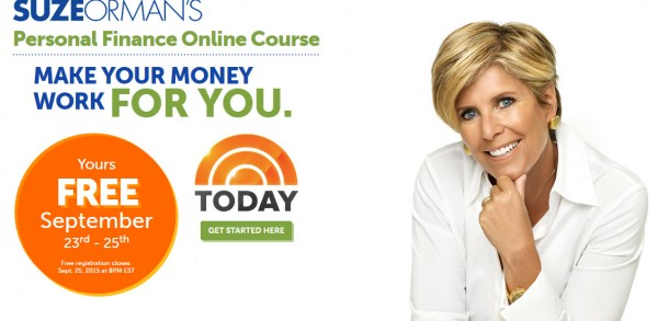 FREE Suze Orman's Personal Finance Online Course 1