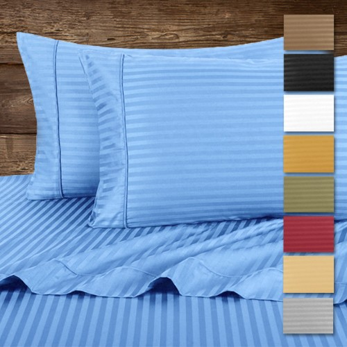 Hotel Life Deluxe 100 Cotton Sateen Sheet Set