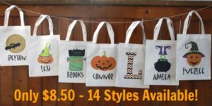 Personalized Halloween Tote Only $8.50! (14 designs)