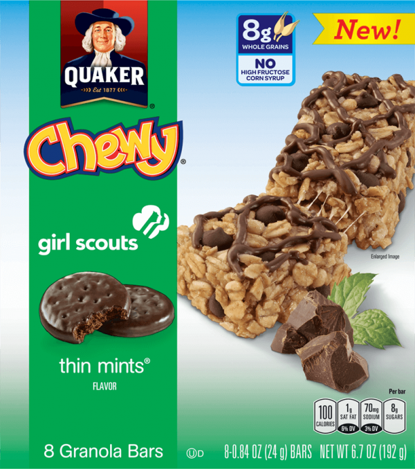 Quaker Chewy Granola Bars Girl Scout Flavors