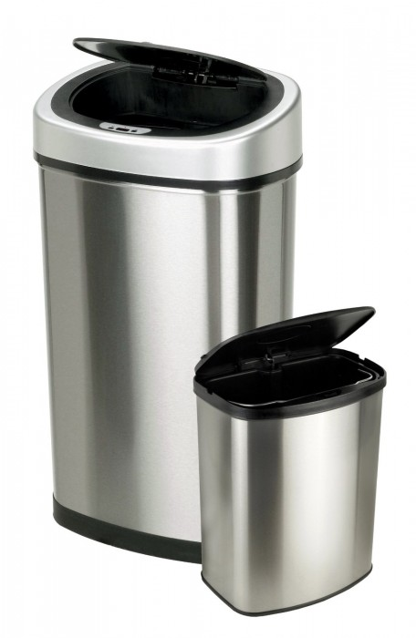 set of 2 Touchless Automatic Motion Sensor Trash Can