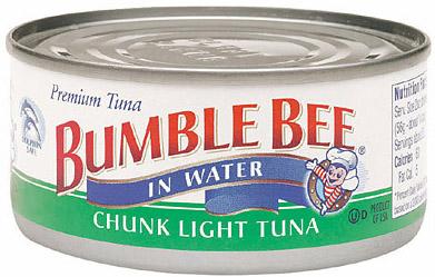 bumble bee tuna cans