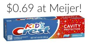Meijer: Crest Kids Toothpaste Only $0.69!