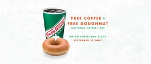 FREE Original Glazed Doughnut and Coffee at Krispy Kreme!