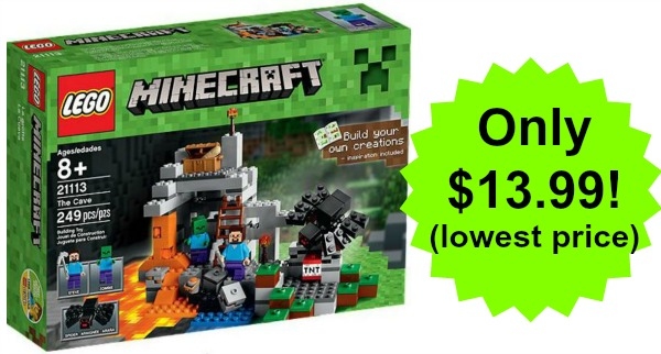 lego minecraft the cave playset only  13 99   lowest price
