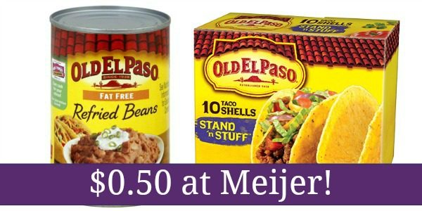 old el paso shells and refried beans