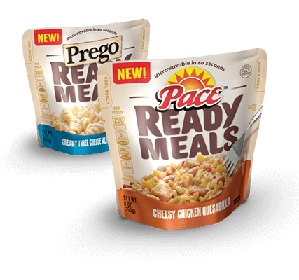 pace and prego ready meals