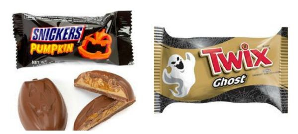 snickers pumpkin and twix ghost