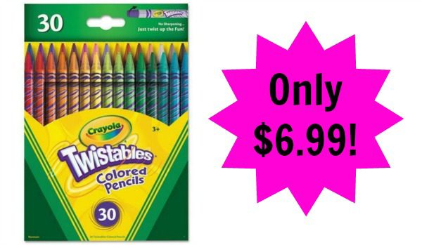 crayola twistable colored pencils 30 count pack only 699 - Crayola Colored Pencils Twistables