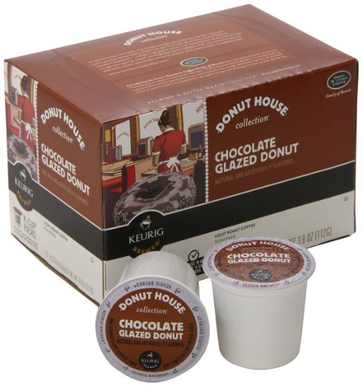 Donut House Collection Chocolate Glazed Donut, Keurig K-Cups