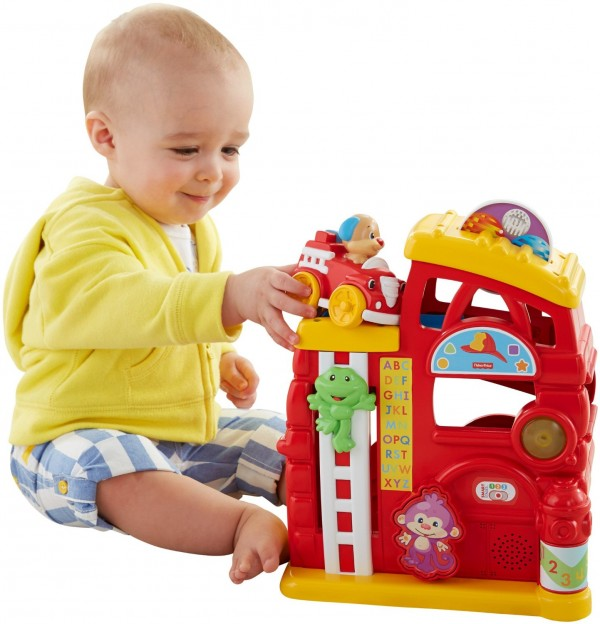 Fisher-Price Laugh & Learn Monkey's Smart Stages Firehouse