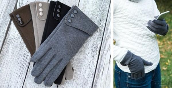Fleece Lined Touch Screen Gloves