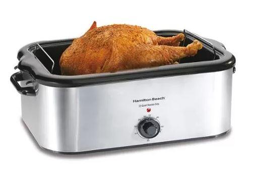 Hamilton Beach 24-Pound Roaster Oven, Stainless Steel
