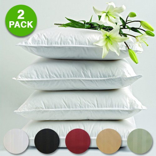 Hotel Life Deluxe 100 Cotton Sateen Pillowcases