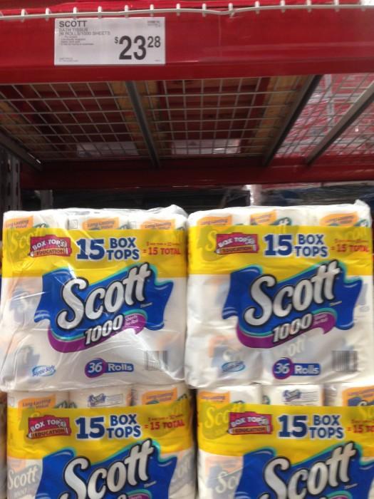 scott 1000 bath tissue sam's club