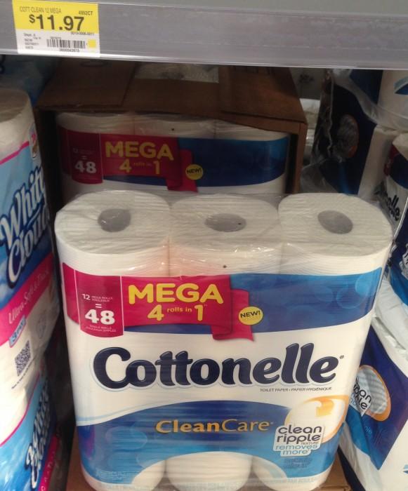 cottonelle mega roll walmart