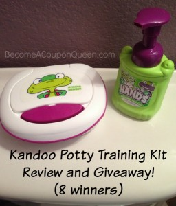 Kandoo Potty Training Kit Review and Giveaway! (8 winners)