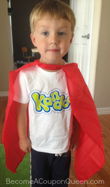 Kandoo t-shirt and cape with colin
