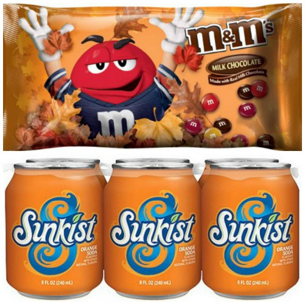M&Ms and a Soda 6-Pack