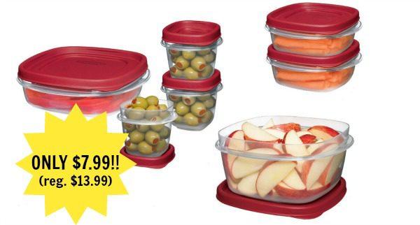 Rubbermaid Plastic Easy Find Lid Food Storage Set, 18 piece