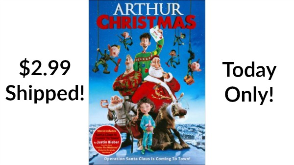 arthur christmas dvd only 299 free shipping become a coupon queen - Arthur Christmas Dvd
