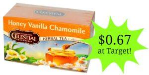 Target: Celestial Seasonings Tea Bags Only $0.67!