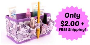 Foldable Makeup Organizer Only $2.00 + FREE Shipping!