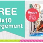 FREE 8x10 Photo + FREE Store Pick Up at Walgreens!